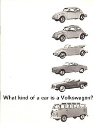 1962 Volkswagen for North America (Hugo-90) Tags: vw volkswagen 1962 ads advertising brochure beetle kafer coccinelle kombi van karmann ghia