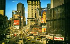 Times Square, New York City, New York (Thomas Hawk) Tags: america bonds canadianclub castro cocacola fistsoffury hitler newyork newyorkcity sony timessquare usa unitedstates unitedstatesofamerica vintage winston advertising billboard cigarette neon postcard taxes fav10 fav25 fav50 fav100
