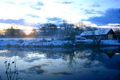 In The Bleak Mid Winter........ (law_keven) Tags: christmas essex dedham photography landscapephotography snow winter inwinter winterwonderland sunrise landscape sky mist grass trees riverstour