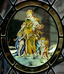 [73640] York : Merchant Adventurers Hall Chapel - East Window (Budby) Tags: york northyorkshire hall guild gild window stainedglass chapel church