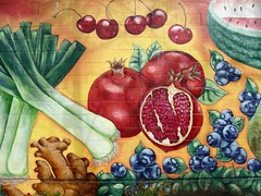 Pomegranate (knightbefore_99) Tags: mural art city cool pomegranate red rouge colour awesome vancouver eastvan thedrive commercialdrive best bc west coast nice