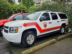 West Vancouver, BC Command 2 (walneylad) Tags: westvancouver britishcolumbia canada firedepartment firerescue fireservice firebrigade pompiers incendie bomberos bombeiros brandweer fire feu emergencyvehicle firevehicle fireapparatus fireappliance fireengine firetruck supportvehicle supportunit commandvehicle commandunit command2 white red chevrolet suv commandcar car