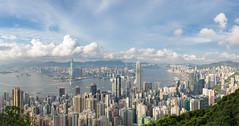 DSC_0086-全景 (WesleyYang 佳霖) Tags: 香港 盧吉道觀景台 山頂 太平山 維多利亞港 hongkong
