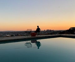 Sunset at Stahl House (p.bjork) Tags: stahlhouse modern architecture losangeles hollywoodhills sunset pool