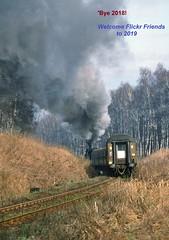 Wolsztyn PKP  |  1992 (keithwilde152) Tags: ol49 ol4923 wolsztyn wielkopolska pkp poland 1992 landscape woodland tracks passenger train steam locomotives outdoor spring