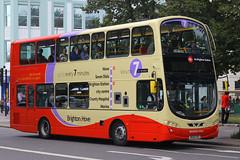 BG61 SXS, Steine Gardens, Brighton, August 6th 2015 (Southsea_Matt) Tags: bg61sxs 441 wright eclipse gemini volvo b5lh brightonhove goahead steinegardens brighton sussex canon 60d 1850mm august 2015 summer bus omnibus vehicle transport magnusvolk
