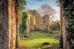 Ruin (Jez22) Tags: ruin littlechart kent remains tower church ivy sky clouds weather walls chancel england copyright jeremysage