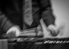 beaten (*BegoñaCL) Tags: xylophone music movement tie hand blackwhite man musician begoñacl