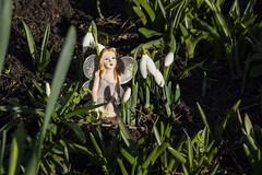 winter fairy (Mark Rigler -) Tags: blue sky outside poole dorset england model scale figure outdoors snow drop fairy