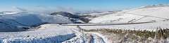 Looking back to Shire Hill (Maria-H) Tags: snow winter panorama hills peakdistrict glossop derbyshire highpeak uk olympus omdem1markii panasonic 1235