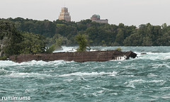 Stranded Scow  Comemeration (rumimume) Tags: rumimume 2019 niagara ontario canada photo canon 80d niagarafalls scow oldscow commemeration upperniagara river water boat rescue niagaraparkscommision summer falls redhillsr outdoor day
