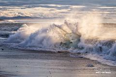 'Ice Breaker' (macdad1948) Tags: fjfallsarlon jokulsarlon glaciallake icelagoon iceland iceburgs glacier jok glacialbeach mountain beach waves