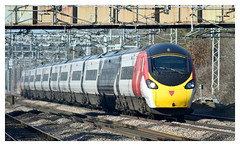 Its a (vinyl) wrap! (Trev 'Big T' Hurley) Tags: pendolino class390 emu electricmultipleunit alstom ac electric wcml westcoastmainline cathiron warwickshire rugby train tiltingtrain virgin ohle catenary 25kv