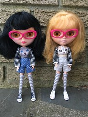 Twinning (blythecatalyst) Tags: glasses lad nicky best sunday fashion plastic doll blythe one gold all