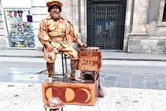Galileo Galilei (Physsie) Tags: street artist galileo astronomer still people