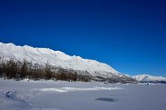 Blue sky and white mountains in Alaska (Yu Takada) Tags: sky mountain lake blue white winter snow alaska