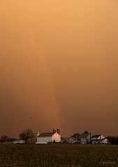 rainbow (Jen MacNeill) Tags: weather lancaster county country rural pa pennsylvania countryside cold front storm evening sun set sunset colorful farm barn sky skies clouds