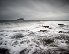 Waves over the Wellies (captures.in.time) Tags: sea rock seascape seascapephotography landscape landscapephotography backwash shore beach wash light land sun cloud island scottishislands waves scotland islands water calm winter cold salt europe photography canon 6d sky sand wave northsea dunbar eastlothian east lothian bassrock bass bay spring bad weather tantallon seacliff cliff