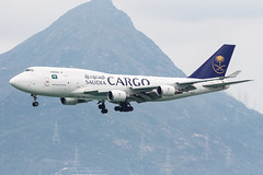 Saudi Arabian Airlines Cargo B747-400BDSF TC-ACF 001 (A.S. Kevin N.V.M.M. Chung) Tags: aviation aircraft aeroplane airport airlines plane spotting hkg boeing b747 747 jumbo jet cargo queen appoach landing b747400f