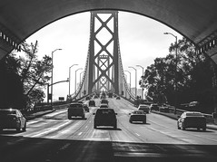 Crossing #1 (Pedro Freithas) Tags: oakland bay bridge san francisco area building california road freeway dark black white ponte arquitetura cabos cable concrete tunnel art fineart photography architecture city cityscape