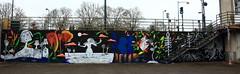 Rennes Impermanence Galerie Mur6 @Maya Wnu @Maïté Rouault @Christine Ammour@ Bibiche Zède @Eve le Trévedic @Anne-Laure Chevalier @Eléna Gath (blackbike35) Tags: rennes bretagne france impermanence galerie mur wall street streetart paint painting art work writing artistes women
