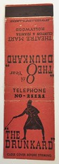 THE DRUNKARD HOLLYWOOD CALIF (ussiwojima) Tags: thedrunkard theatre theater mart hollywood california advertising matchbook matchcover