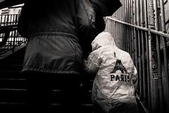 Untitled (LoKee Photo) Tags: lokee lowkey black white monochrome rain paris montmartre stairs children street urban fuji x100s