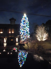 DSCN3414 (tombrewster6154) Tags: christmas tree reflection car late december early winter massachusetts sparkling lights night holiday spirit