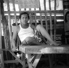 Resting (Beegee49) Tags: street man resting black white monochrome bw sitting luminar sony a6000 bacolod city philippines asia happyplanet asiafavorites