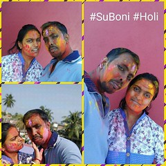Happy #Holi #BasantaUtsab to all.  We #SuBoni Celebrating the colors of our beautiful relationship, Our 2nd Official #Holi Masti 2019. (AusterKet) Tags: instagramapp square squareformat iphoneography uploaded:by=instagram