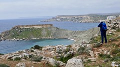 Along the cliffs.. (goforchris) Tags: malta hf hfholidays walkingholidays mgarr cliffs blueclay rockformations