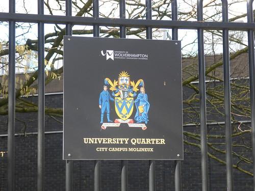University of Wolverhampton City Campus Molineux - George Wallis Building - sign