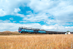 Autumn.... (N.Batkhurel) Tags: season autumn clouds sky railway railfan railroad trains trainspotting transport 1520 2te116um mongolia monrailpic diesellocomotive freighttrain ngc nikon nikond5200 nikkor