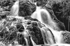 2017 Roughlock Falls In Monochrome 31 (DrLensCap) Tags: roughlock falls in monochrome spearfish canyon scenic drive black hills national forest south dakota sd waterfall bw and white 40 day adventure robert kramer