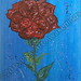 ''Rose to the Water'' by Roxanne G, acrylic, $15.00