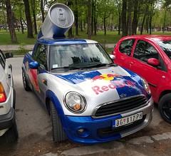 2013 Mini Cooper Red Bull (FromKG) Tags: mini one red bull blue car kragujevac serbia 2019