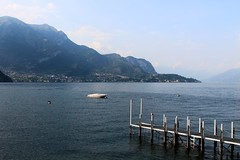 Lake Como (GabyF88) Tags: boat lake como italy summer pier mountains