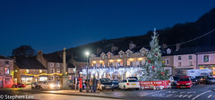 Settle Market Place at Christmas (StephenL in Settle) Tags: uk england christmas northyorkshire settle