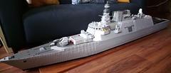 Nearly finished (Babalas Shipyards) Tags: lego navy ship warship corvette frigate sloop