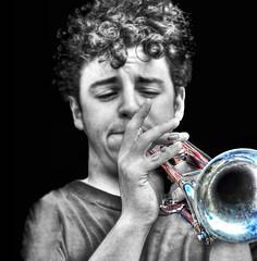 (daystar297) Tags: portrait music musician artist performance performer jazz blues trumpet horn nikon teen teenager