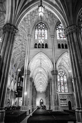 St. Patrick Cathedral, NYC (FedeSK8) Tags: 2019 fedesk8 federicoscottophotography fujifilmxm1 newyork places cathedral church black white bianco e nero architecture