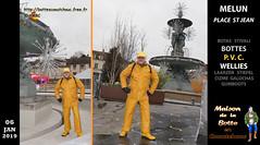 Pascal, place Saint-Jean de Melun, en tenue PVC jaune (pascal en bottes) Tags: bottescaoutchouc rubberboots stivalidigomma botasdehule gummistiefel wellies gumboots bottédecaoutchouc botteux bottes botas ciszme laarzen caoutchouc stivali stövler boots stiefel rubber wellingtonboots cap casquette pascal pascallebotteux rainboots galochas ambc bottescaoutchoucfreefr httpbottescaoutchoucfreefr bottespvc padded pluvieux pvc ciré cirés pvcjaune yellow jaune yellowpvc guy guycotten cotten rain raingear rainwear salopette salopettepvc boot workingboots street stroll saintjean centre centreville melun