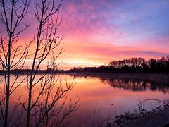 Aube III (Daniel_Hache) Tags: saclay soleil daniel hache sunset coucher etang pont essonne france fr