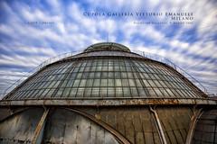 Cupola Galleria Vittorio Emanuele, Milano (Obliot) Tags: obliot sera ferro 2016 vetro vittorioemanuele highline cielo lombardia galleria centro azzurro milano nuvoloso monumento nuvole marzo tetti skyline italia it