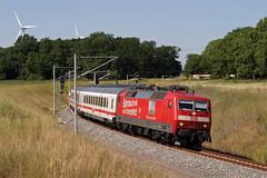 DB 120 501 + IC 2070 Dresden - Hamburg - Genshagener Heide Schweineohr (Rene_Potsdam) Tags: br120 genshagenerheideschweineohr brandenburg deutschebahn railroad treinen trains trenes züge europe europa