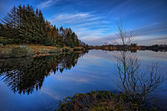 Vormedalsvatnet, Norway (Vest der ute) Tags: xt2 norway rogaland vormedal karmøy water waterscape landscape lake reflections mirror bluesky sky clouds trees foliage tree fav25 fav200