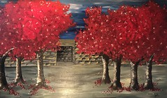 Firetrees- Entrace to your Soul (info@mrsdeere-arts.ch) Tags: schweiz mrsdeerearts malen painting acryl