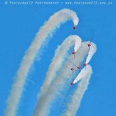 9952 7 ship loop R1 R2 R3 R4 R6 R7 R8 (photozone72) Tags: raf rafat redarrows reds redwhiteblue aviation aircraft jets hawk canon canon100400f4556lii canon7dmk2 7dmk2 scampton lincolnshire
