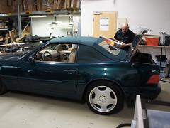 Mercedes SL R129 Verdeck 1989 - 2001 (best_of_ck-cabrio) Tags: mercedes benz mercedesbenz verdeck verdeckmontage ckcabrio cabrio cabriolet auto sattler sattlerei autosattlerei pohlheim montage verdeckmanufaktur manufaktur