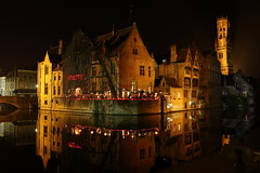 Brugge (Victor MP) Tags: brugge rozenhoedkaai belgium night shot water canal canon eos 70d sigma 1835mm reflection